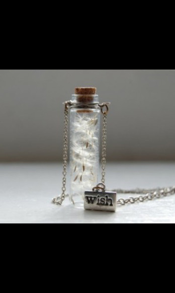 necklace jewels bottle necklace wish floral