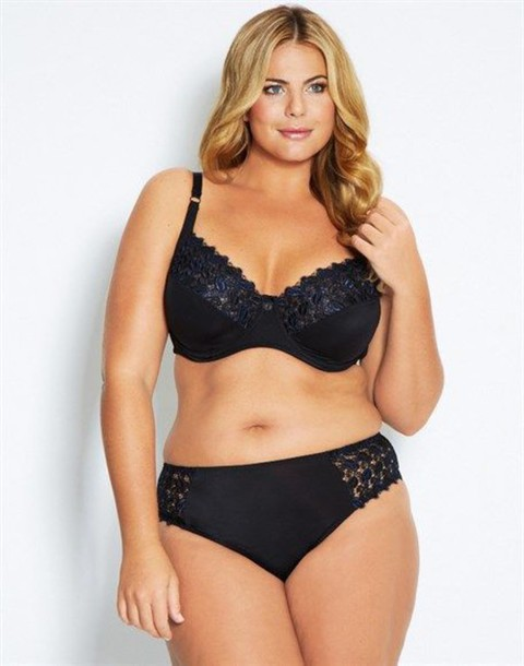 Underwear: fiona falkiner, model, curvy, plus size, bra, panties ...