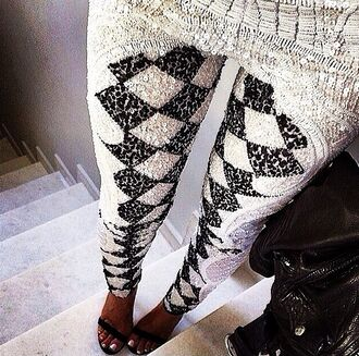 pants leggings printed leggings strass luxury white black sparkle embroidered diamontes beaded pants jeans tights material brand monochrome black and white sequins diamonds print high heels heels shoes style glitter