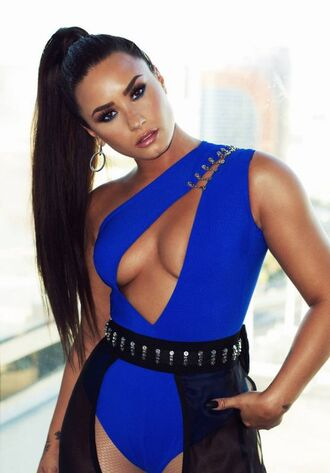 top bodysuit mtv vma demi lovato belt