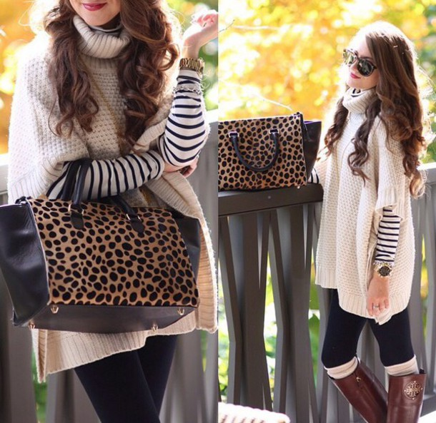 Sweater: cowlneck, funnel neck, poncho, beige, cream, forever 21 ...