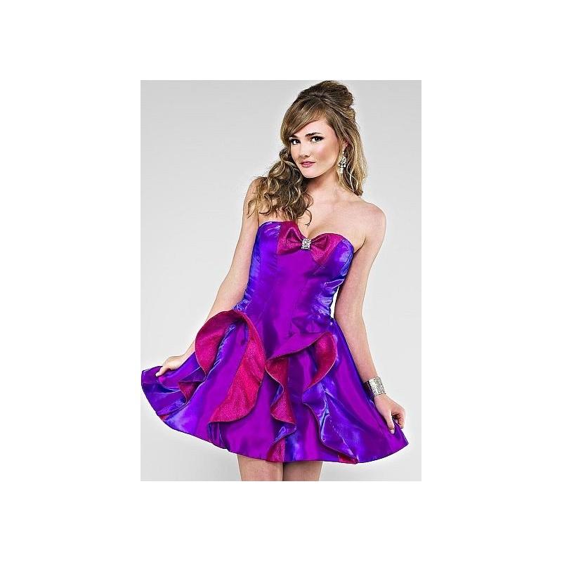 Cire by Landa Short Ruffle Shimmer Taffeta Party Prom Dress PE251 ...
