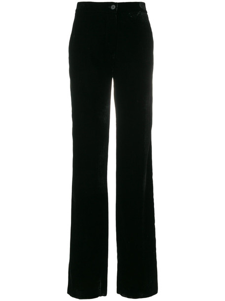 women black velvet pants
