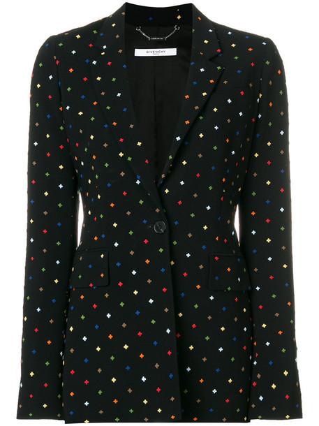 blazer cross mini women spandex black jacket