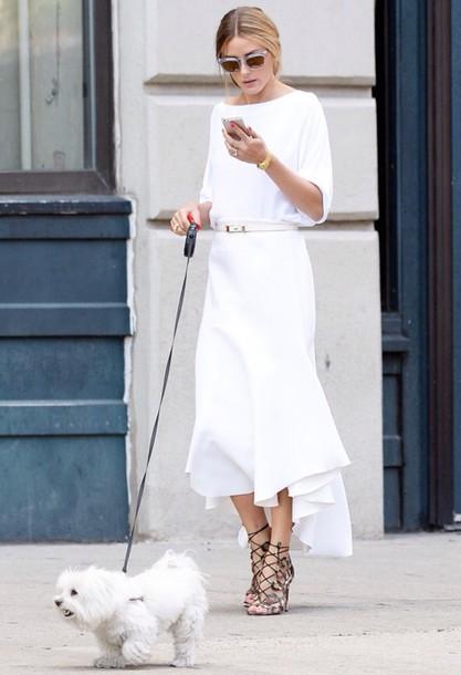 skirt olivia palermo white top wedding olivia palermo shoes
