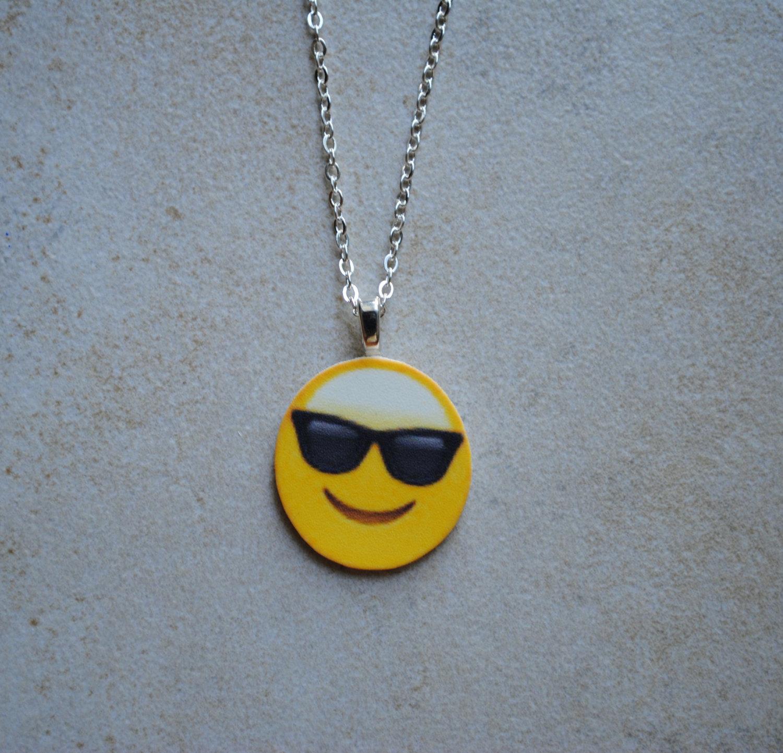 Sunglasses emoji necklace