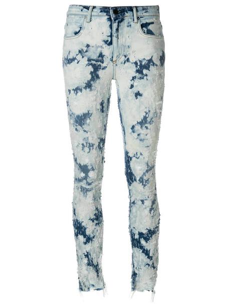 Alexander Wang jeans skinny jeans women spandex cotton blue