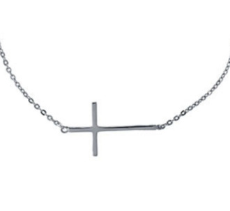 jewels cross necklace silver anarchy street