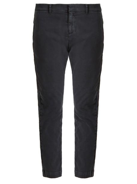 Nili Lotan cotton navy pants