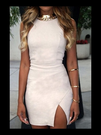 dress fashion beige dress beige