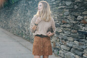 prosecco and plaid,blogger,belt,suede skirt,button up skirt,hipster