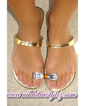 shoes,sandals,jewel sandals,gold metallic,flat sandals,gold sandals