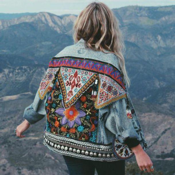 jacket denim jacket embroidered embroidered jacket