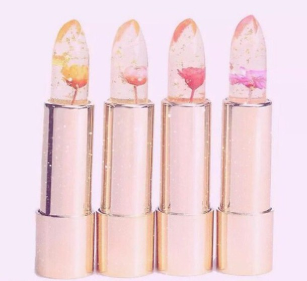 make-up lipstick floral flowers trendy lips face makeup cosmetics