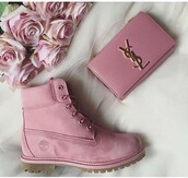 shoes,blush,timberlands,pink