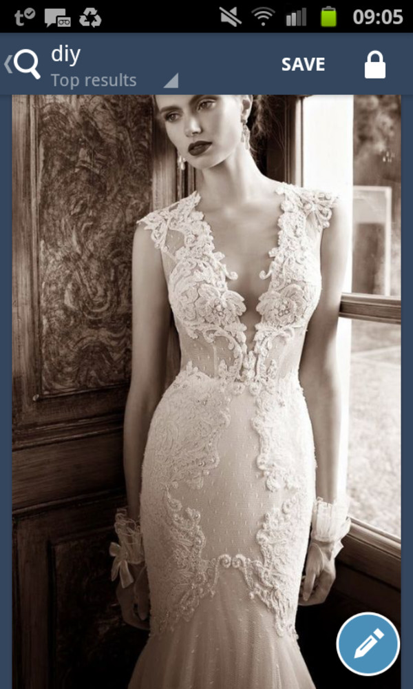 wedding dress white dress lace dress pretty