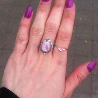 jewels shop dixi sterling silver ring jewelry pink boho bohemian