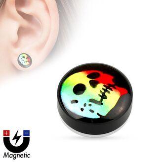 jewels mystic steel jewelry magnetic earrings fake ear plug skull