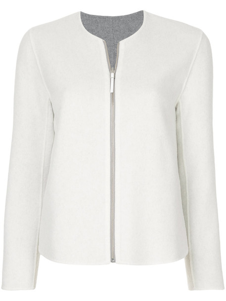 Jean Paul Knott jacket women white cotton wool