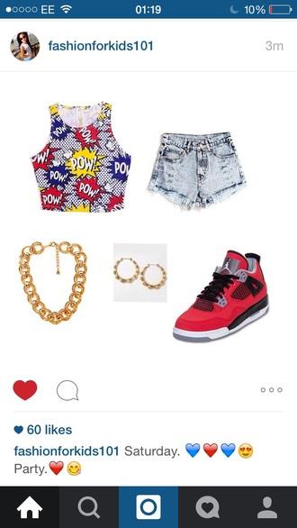 shoes hood shorts underwear jewels shirt