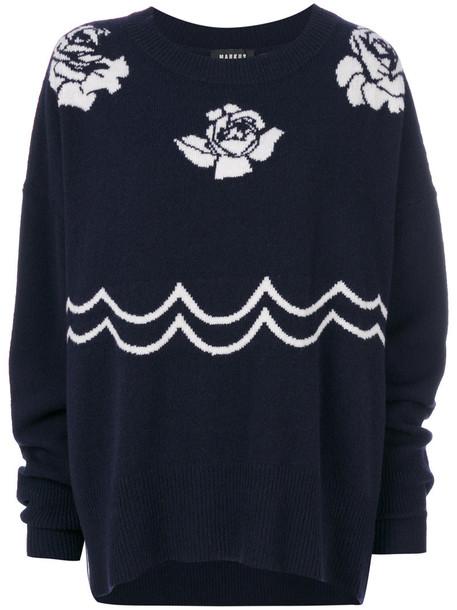 Markus Lupfer sweatshirt women blue sweater