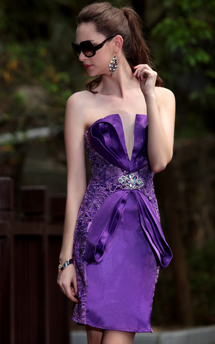 Sheath short purple bridesmaid dresses 2012 14900 strapless sheath short purple bridesmaid dresses 2012 14900 ombrellifo Image collections