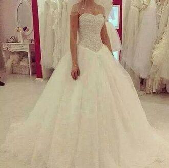 white dress wedding dress princess wedding dresses
