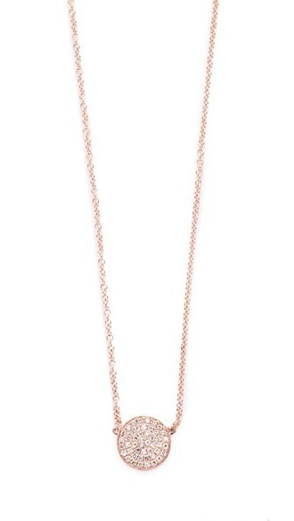 rose gold rose clear necklace gold jewels