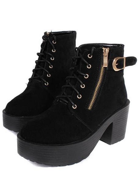 Chunka zip ankle boots