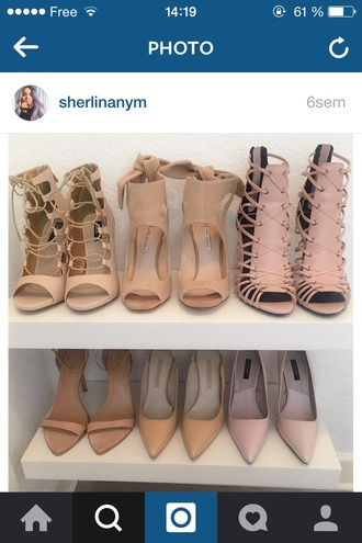 shoes beige pink sandals any of these shoes. shorts nude shoes high heels heels nude nude high heels nude heels high-heels designer pink tan caged beautiful fashion love i want all of them sandal heels pumps baby pink high heels gladiators nude sandals