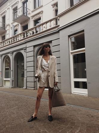 jacket blazer white top top bag shoes black shoes sunglasses