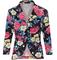 Black rose floral jacket