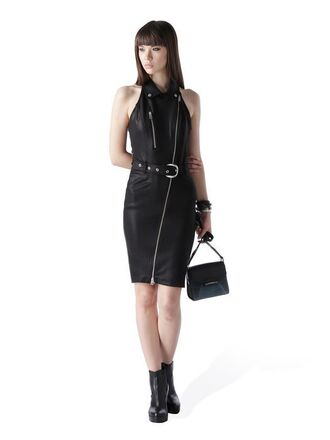 dress leather black black dress little black dress zip zipper dress halter neck classy goth faux leather clubwear formal dress grunge grunge wishlist alternative alternative rock zaful halter dress photoshoot outfit