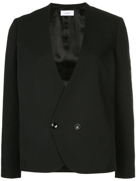 Astraet blazer women fit black wool jacket