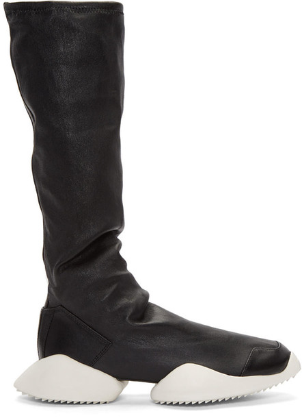 Rick Owens Black Adidas Edition Runner Stretch Boot High-top Sneakers