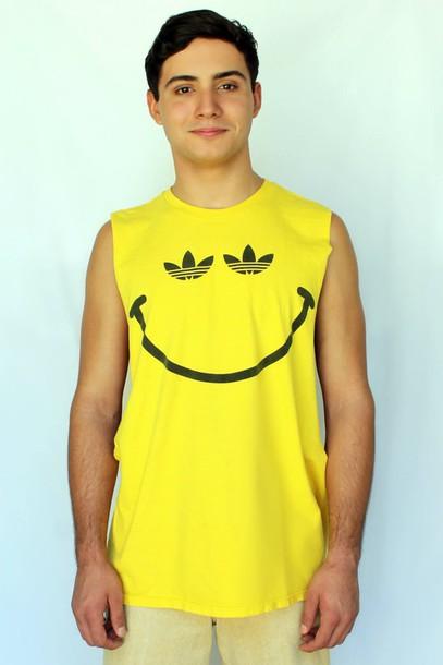 rad cool just vu menswear mens t-shirt t-shirt graphic tee adidas coachella festival burning man party beach holidays california chiffon yellow