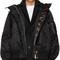 Sacai black ruched ma-1 bomber jacket