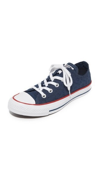 sneakers navy white shoes