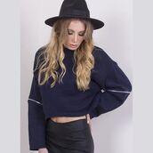 sweater,lunas wardrobe,navy,jumper,streetstyle