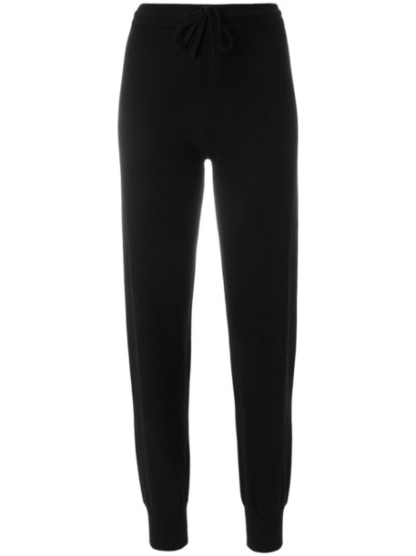 theory pants track pants women black