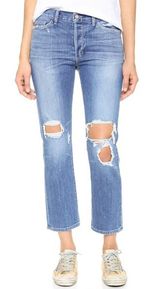 jeans straight jeans cropped love