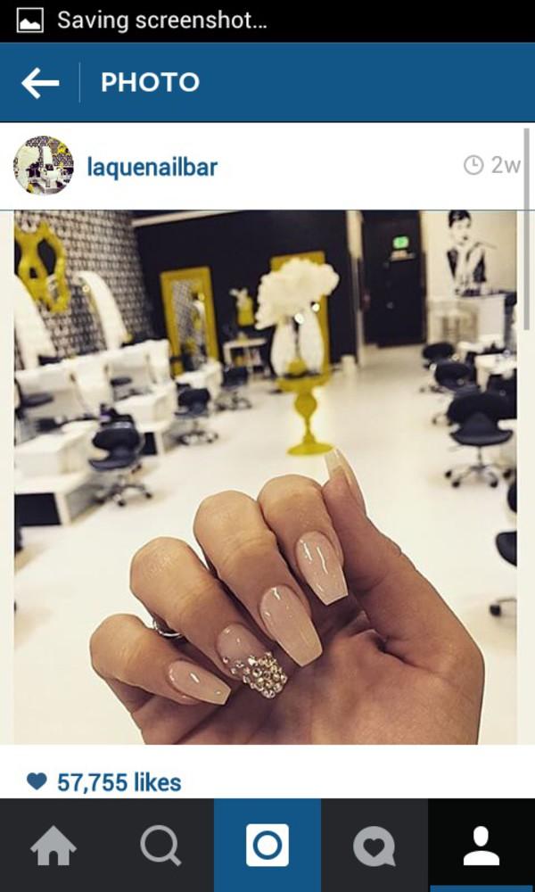 nail polish, nails, nail accessories, laquenailbar, gold, nude, gold ...