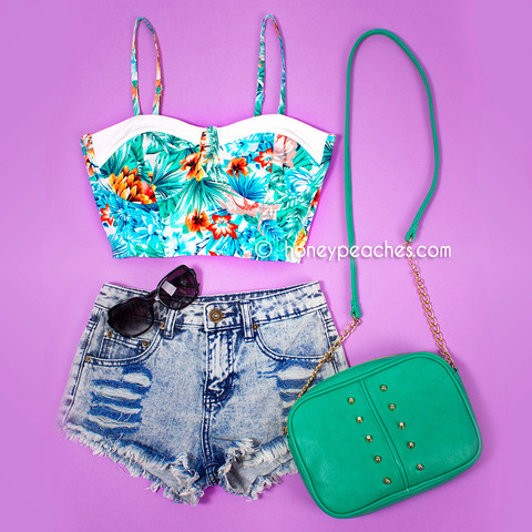 Tropical bliss crop top
