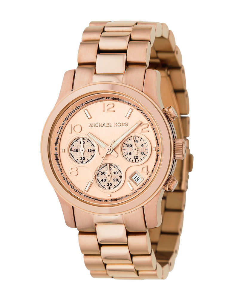 Michael Kors MK5128 Womens Rose Gold Chronograph Watch | eBay