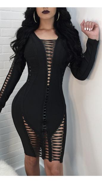dress black strappy midi dress