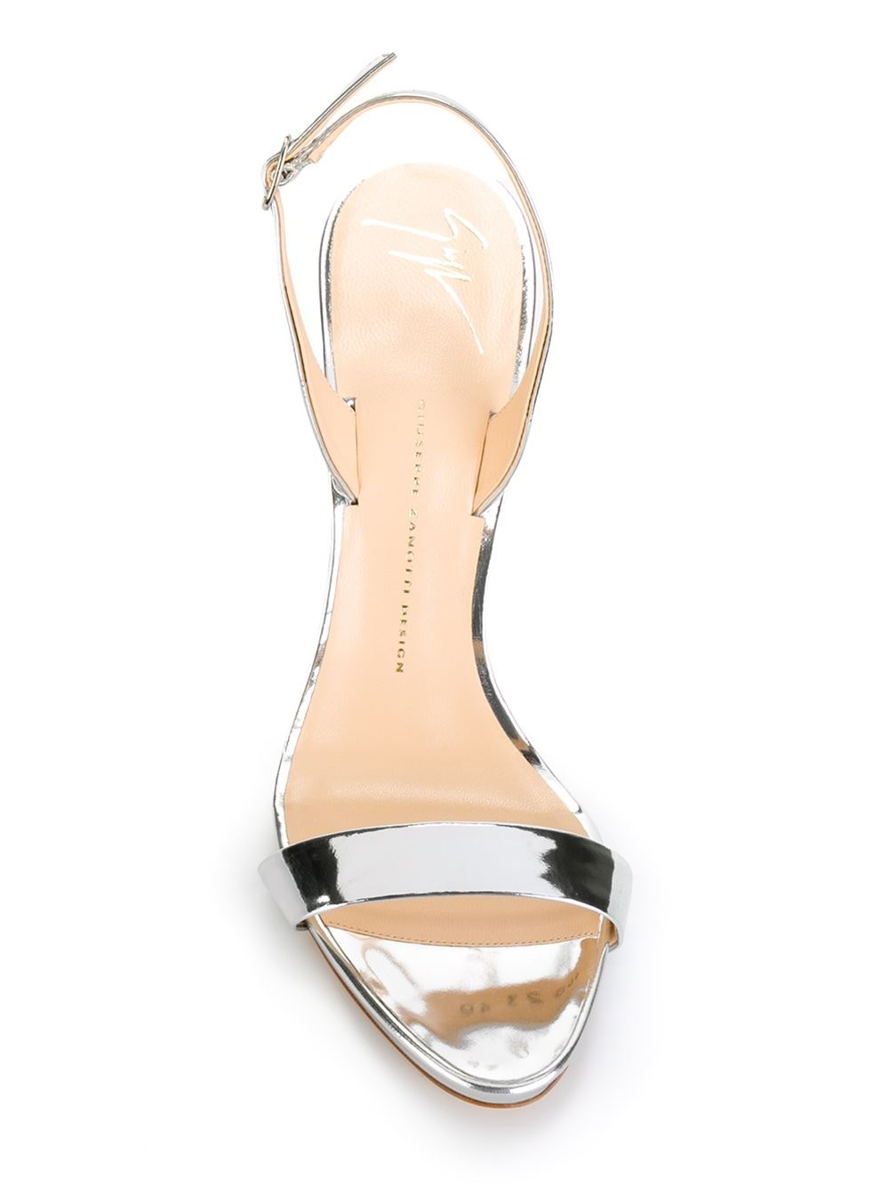 f9a495f8b8bb Giuseppe Zanotti Design Slingback Metallic Sandals - Julian Fashion -  Farfetch.com