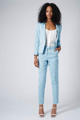 Tile Lagoon Jacquard Blazer and Cigarette Trousers - Suits and Co-ords - Clothing - Topshop USA