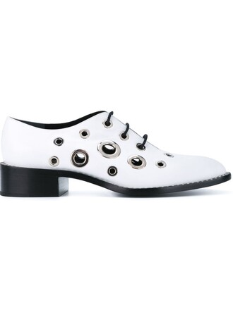 metal women shoes leather white