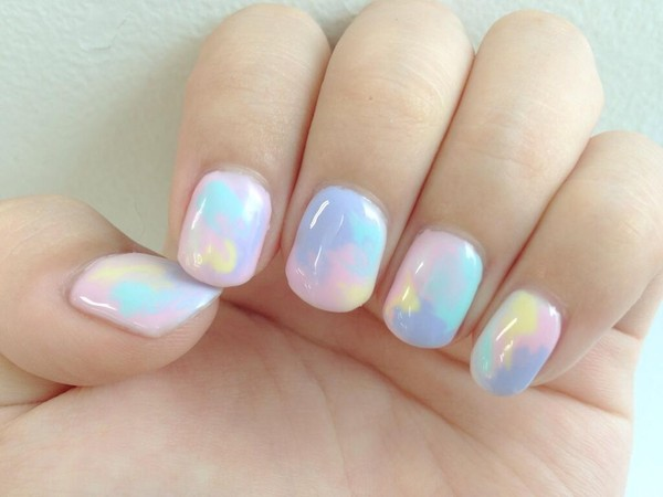 nail polish multicolor nail cute nails tutorial pastel kawaii rainbow colorful nail accessories opalnailpolish nail art opal marble iridescent pastel multicolor