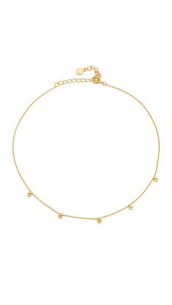 Gorjana 5 Disc Choker Necklace - Gold